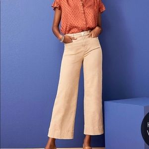 Ann Taylor loft high waist Wide leg cropped jeans